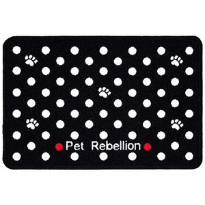 Pet rebellion Pet rebellion voermat mini mate dotty zwart