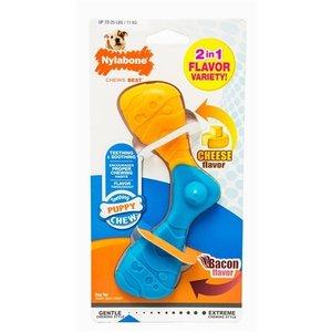 Nylabone Nylabone flexible puppy boomerang bacon & cheese
