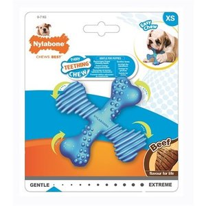 Nylabone Nylabone flexible puppy teething x bone beef