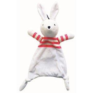 Buster & beau Buster & beau snuggle blankie kroeldeken konijn wit