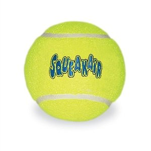 Kong Kong air squeaker tennisbal geel met piep