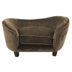 Enchanted pet Enchanted hondenmand sofa ultra pluche snuggle bruin / caramel
