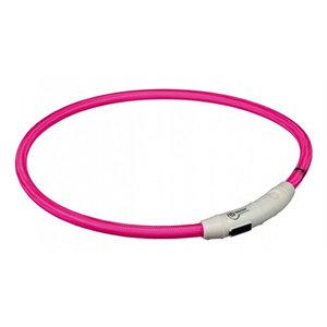 Trixie Trixie halsband flash light lichtgevend usb oplaadbaar roze