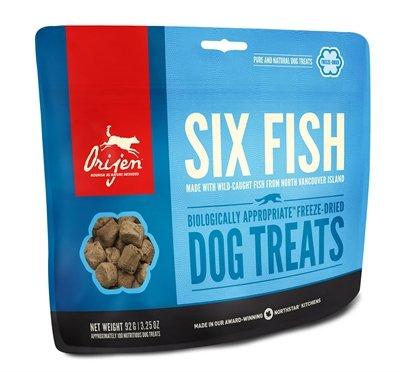 42,5 gr Orijen dog gevriesdroogd 6 fish snoepjes