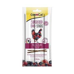 Gimcat Gimcat superfood duo-sticks kip / bosvruchten