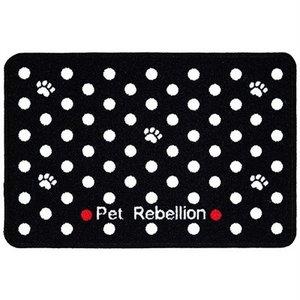 Pet rebellion Pet rebellion voermat dinner mate dotty zwart