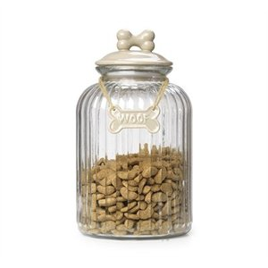 House of paws House of paws voorraadpot glas beige