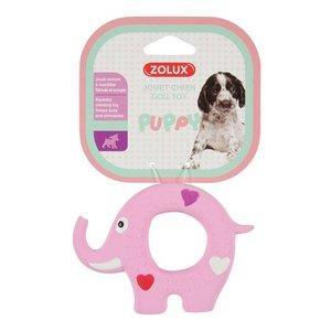 Zolux Zolux puppyspeelgoed latex olifant roze