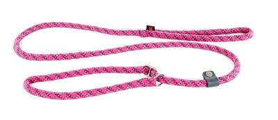 Retrieverlijn voor hond nylon reflecterend roze 13 mmx180 cm