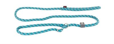 Retrieverlijn voor hond nylon reflecterend blauw 13 mmx180 cm