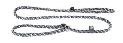 Retrieverlijn voor hond nylon reflecterend grijs 13 mmx180 cm