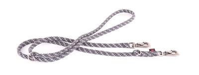 Looplijn voor hond multi purpose nylon reflecterend grijs 13 mmx200 cm