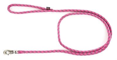 Looplijn voor hond longe nylon reflecterend roze 13 mmx200 cm