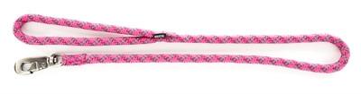 Looplijn voor hond nylon reflecterend roze 13 mmx100 cm