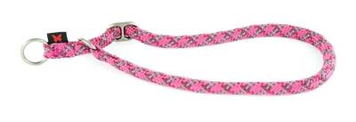 Halsband voor semi choker voor hond reflecterend roze 13 mm-65 cm