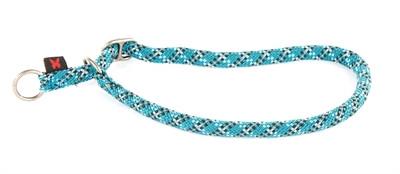 Halsband voor semi choker voor hond reflecterend blauw 13 mm-65 cm