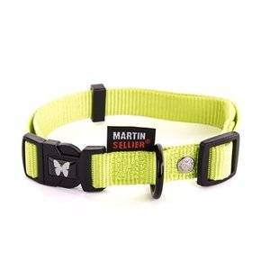 Martin sellier Martin sellier halsband nylon groen verstelbaar