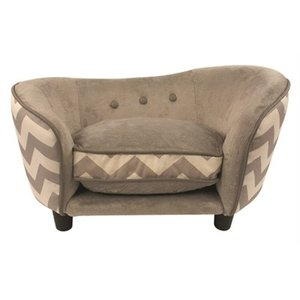 Enchanted pet Enchanted hondenmand sofa chevron grijs