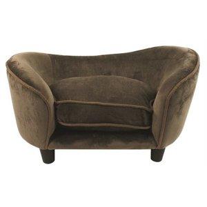 Enchanted pet Enchanted hondenmand sofa ultra pluche snuggle bruin / caramel