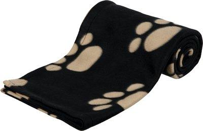 Trixie barney fleece hondendeken zwart/beige 150x100cm