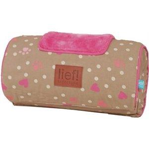 Lief! Lief! comfort kussen voor houten hondenmand girls beige / roze