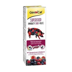 Gimcat Gimcat superfood immunity duo-pasta lever / bosvruchten