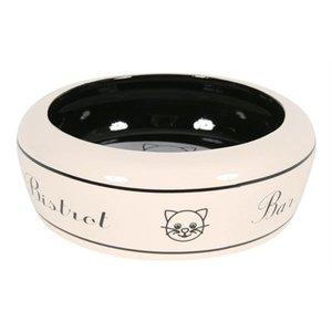 Zolux Zolux voerbak kat bar keramiek wit / zwart