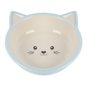 Happy pet Happy pet voerbak kitten lichtblauw / creme