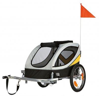 Trixie fietskar grijs/zwart tot 40kg 150x78x78 cm