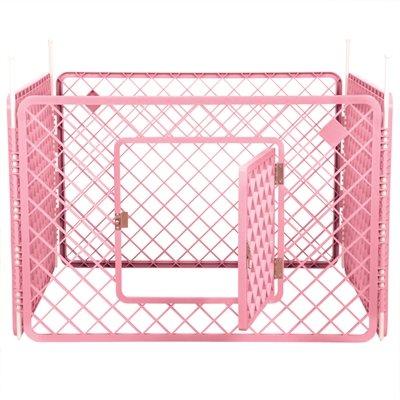 Puppyren 4 panelen roze 90x90x60 cm