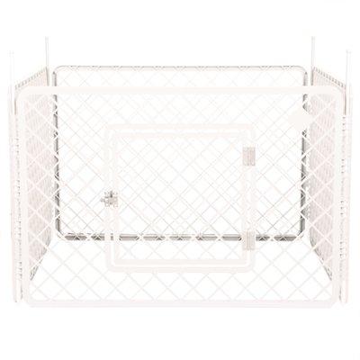 Puppyren 4 panelen wit 90x90x60 cm