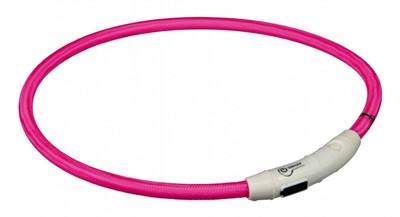 Trixie - Lichtgevende Halsband met USB - Roze