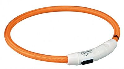 Trixie - Lichtgevende Halsband met USB - Oranje