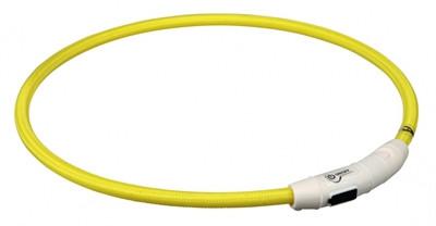 Trixie - Lichtgevende Halsband met USB - Geel