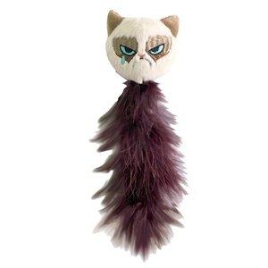 Grumpy cat Grumpy met veren staart