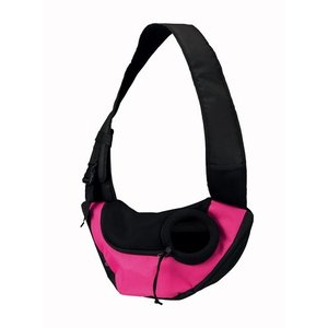 Trixie Trixie buikdrager sling draagtas roze/zwart