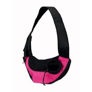 Trixie Trixie buikdrager sling draagtas roze/zwart
