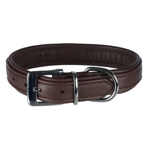 Trixie Trixie halsband hond active comfort leer bruin