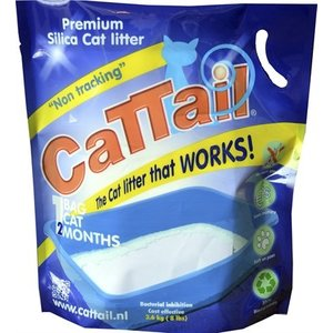 Cat-tail 4x cattail trackless silica kattenbakvulling