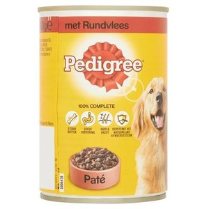 Pedigree 12x pedigree blik adult pate rundvlees