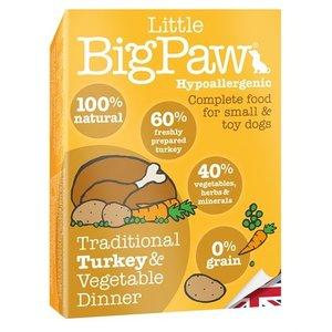 Little big paw 7x little big paw traditionele kalkoen / groenten dinner