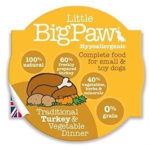 Little big paw 8x little big paw traditionele kalkoen / groenten dinner