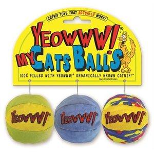 Yeowww Yeowww pluche bal met catnip multikleur