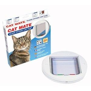 Catmate Catmate kattendeur 210 glas wit