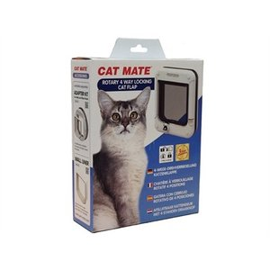 Catmate Catmate rotary kattenluik wit 4 standen