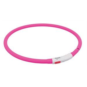 Trixie Trixie halsband usb flash light lichtgevend oplaadbaar roze