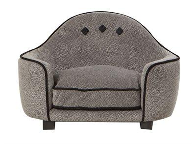 Enchanted hondenmand sofa pluche donkergrijs 64x40x45 cm