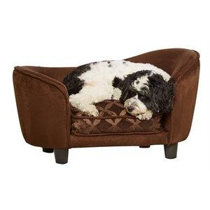 Enchanted pet Enchanted hondenmand sofa ultra pluche snuggle bruin