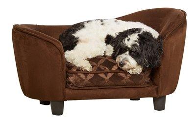 Enchanted hondenmand sofa ultra pluche snuggle bruin 68x40,5x37,5 cm