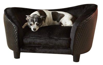Enchanted hondenmand sofa ultra pluche snuggle wicker bruin 68x41x38 cm